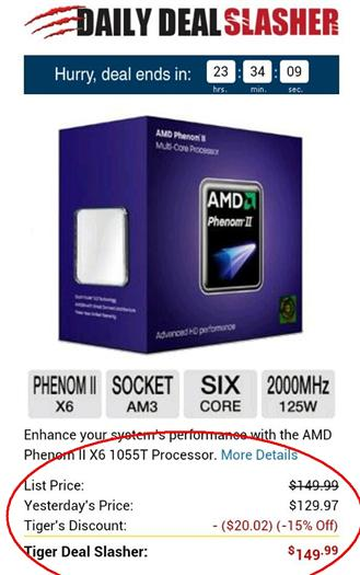 AMD Phenom II X6 Processor, Save (-15% Off)