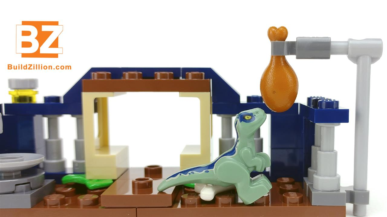 LEGO Baby Velociraptor is hungry