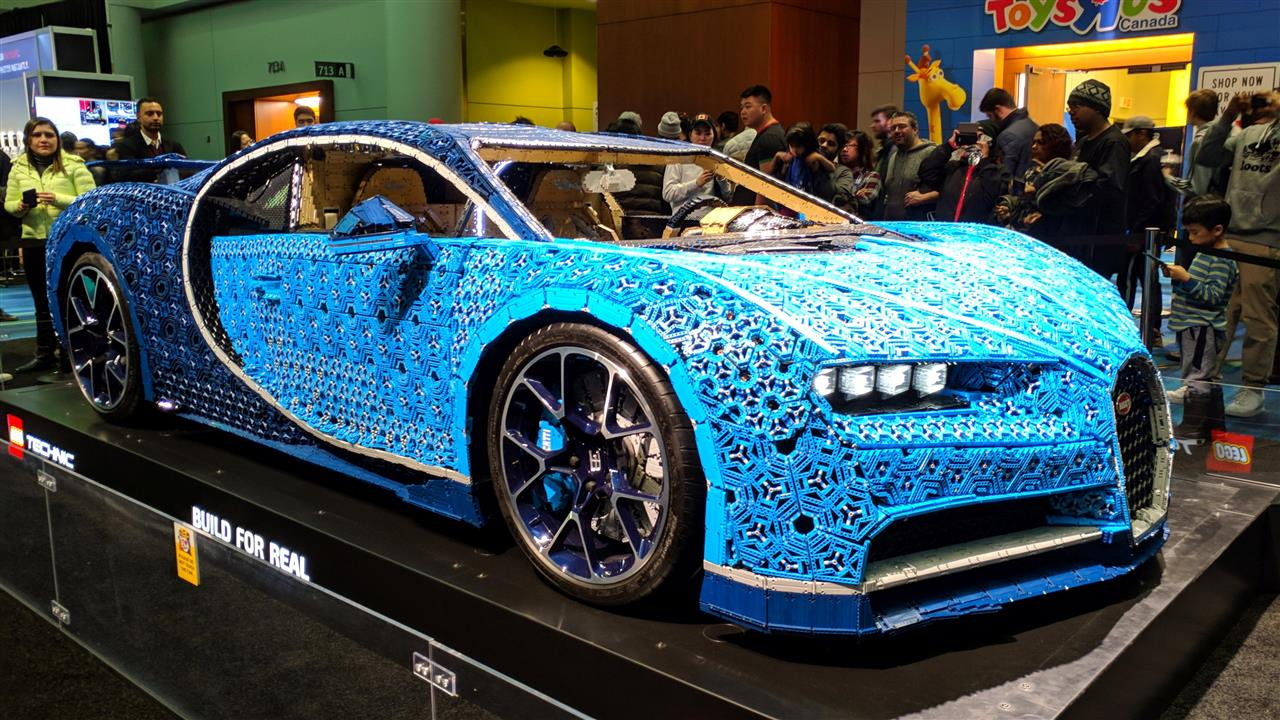LEGO Bugatti Chiron lower angle view