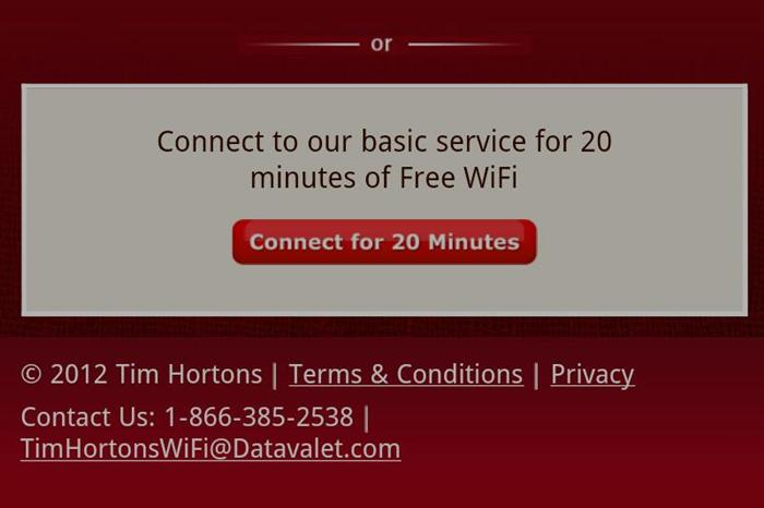 Free Basic WiFi service, no login required